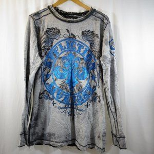 AFFLICTION Reversible Thermal Shirt Men's Gray